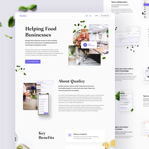Qualizy - Landing page