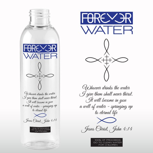 Label design for water bottle