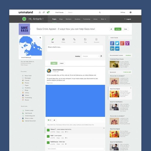 Redesign Social Network for Muslims