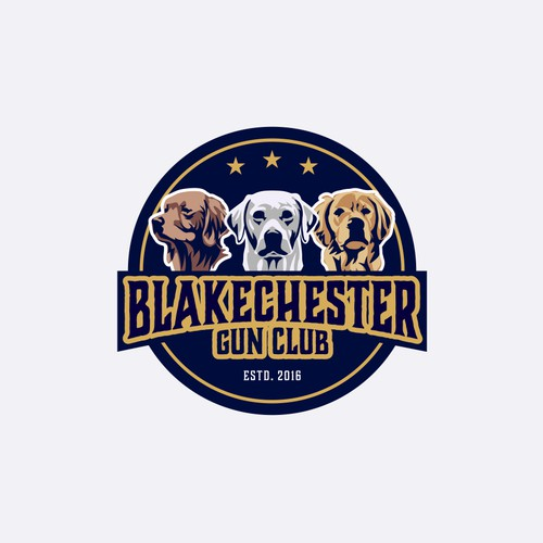 Logo design for Blakechester Gun Club an international clay pigeon shooting team.