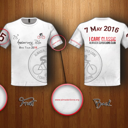 T-Shirt for 25th Anniversary Ride Bike Tour
