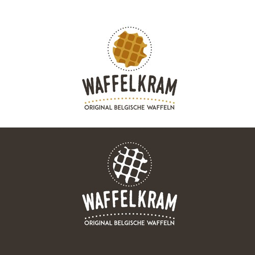 Logo for Belgian waffles foodtruck