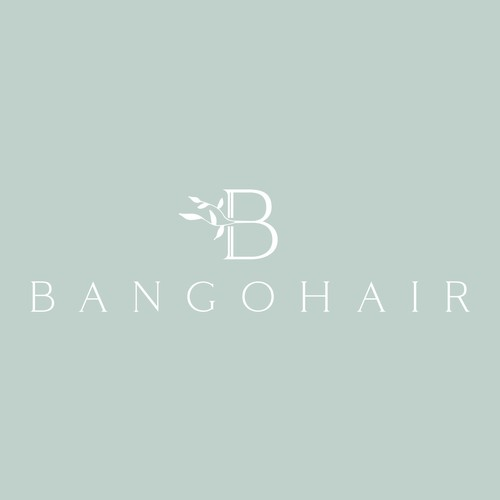 Floral based monogram logo design for a hair salon