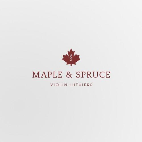 Violin luthier company logo