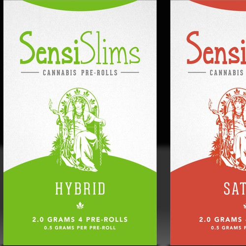 Packaging design for Cannabis pre-rolls