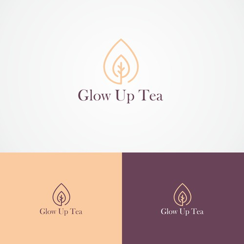 minimalistic logo for diet tea product