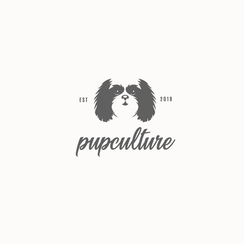 flat logo for dog accesories store