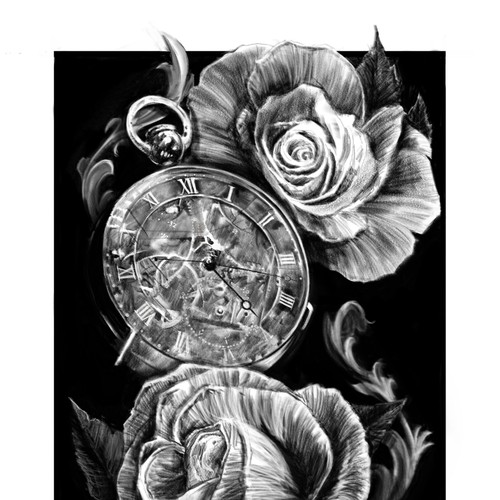 Watch and rosses illustration