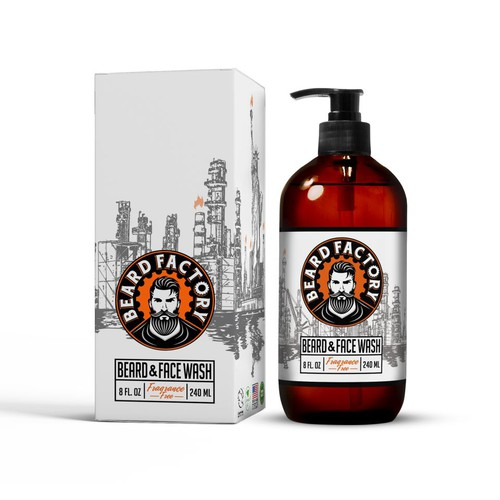 Modern/Vintage Beard&Face Wash Design