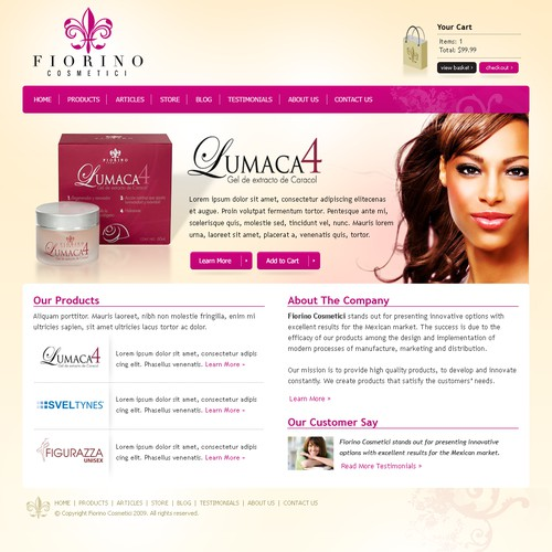 COOL Contest! Women's Cosmetics Website Design PRIZE GUARANTEED