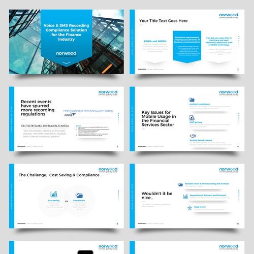 Design a Winning Corporate Presentation Template for Hot B2B Communications Company