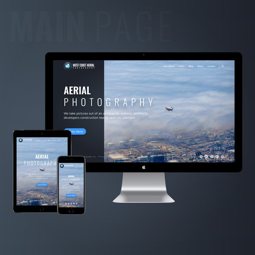 Responsive Web Design for Award-Winning Father-Son Aerial Photography Company