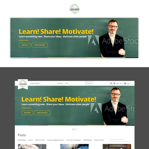 Banner ad for Teach Learn Languages