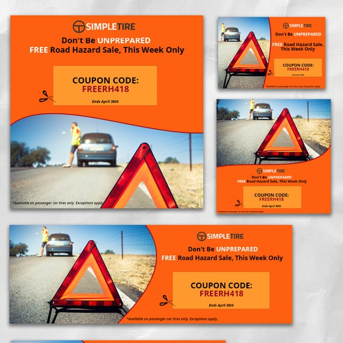 Banner Ads for Simple Tire Shop