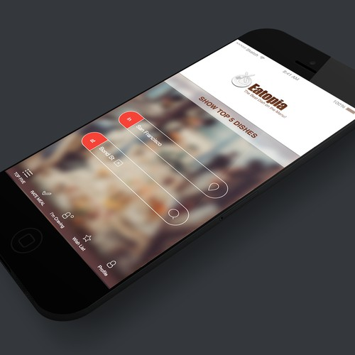 App design concept for Eatopia