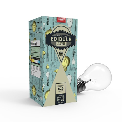 vintage packaging for edison lamp