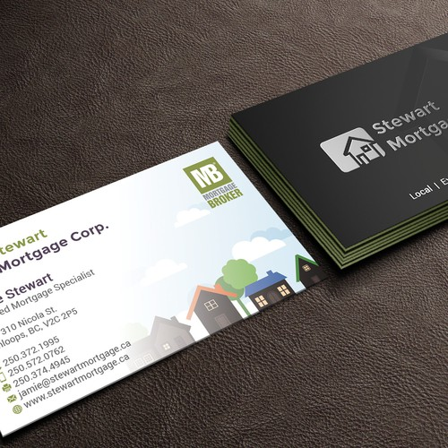 Modern but not corporate business card