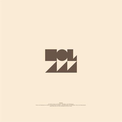 Bauhaus Logo concept HOLZZZ