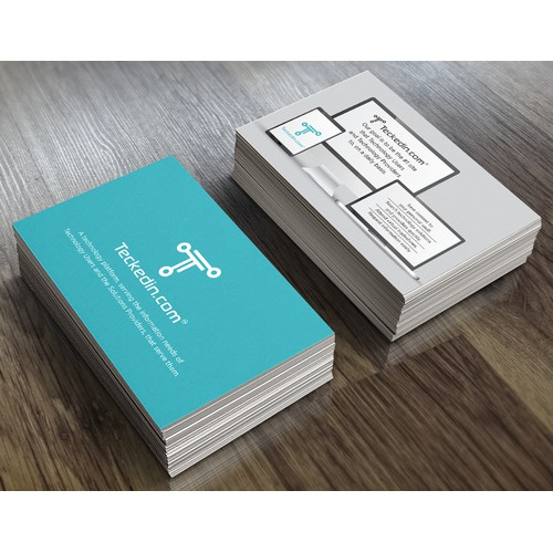Teckedin Business card Design