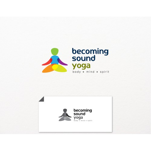 Create a logo for yoga that attracts older, less flexible beginners and men