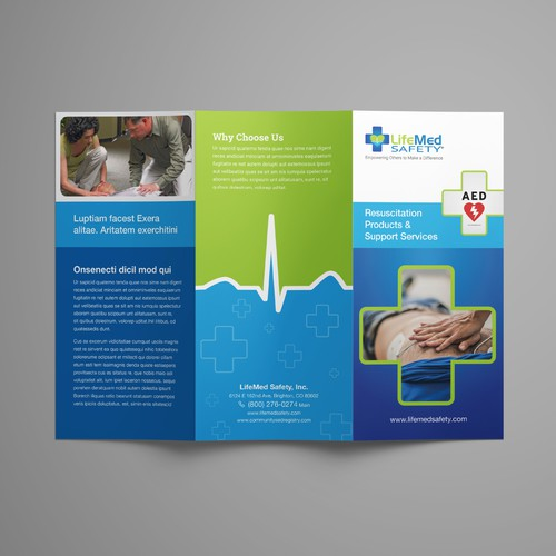 Brochure for Life Saving Company