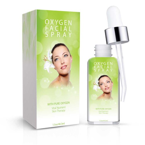 Help Oxygen Facial Spray with a new label advertising