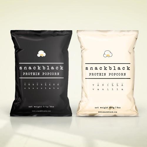 Snackblack protein popcornd