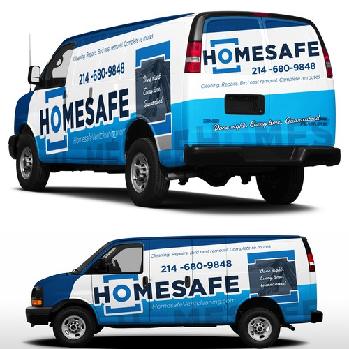 Bold van wrap for home safe