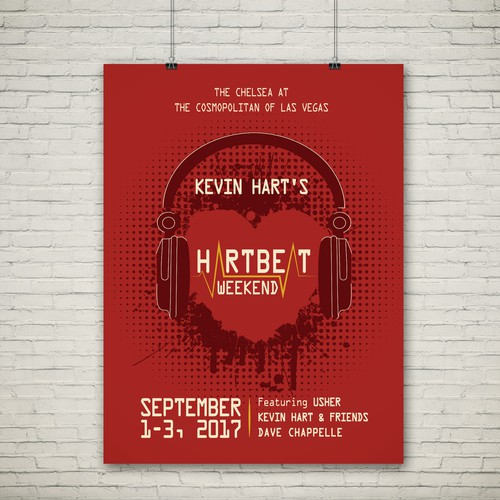Concert Poster for Screen Print - Kevin Hart @ The Cosmopolitan of Las Vegas