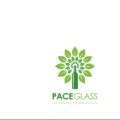 "Create A Great ""Pace Glass"" = Recycling Logo"