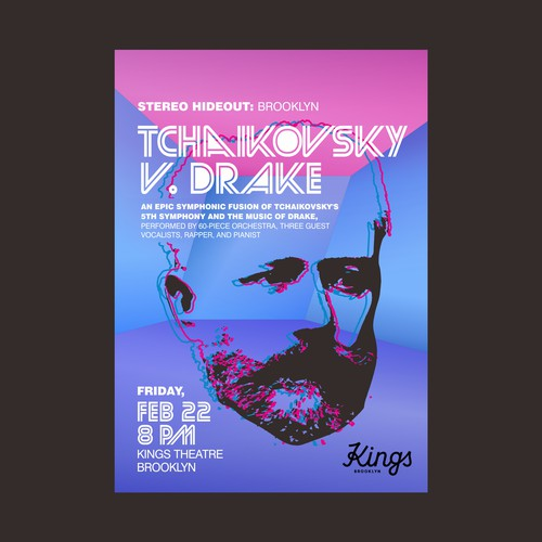 Stereo Hideout poster for Tchaikovsky vs Drake performance