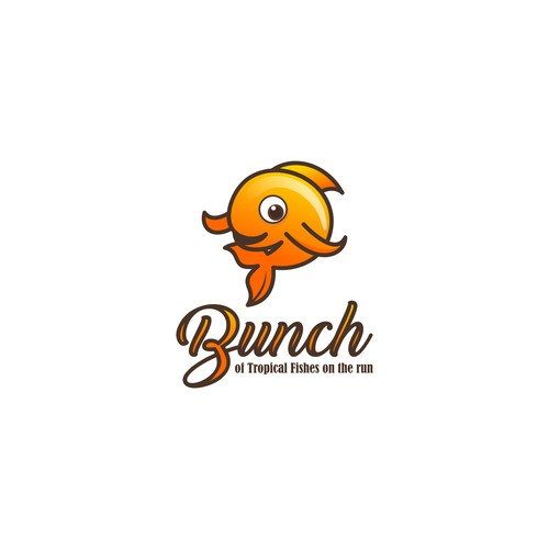 Logo Bunch of Tropical Fishes Cafe on the Run