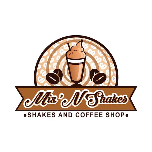 Logo for shakes and coffee shop