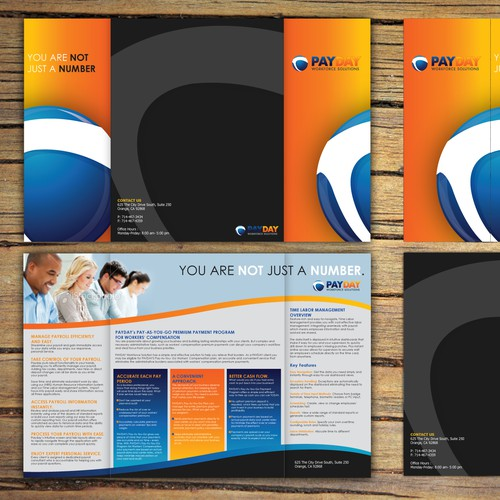 brochure design for Payday Workforce Solutions
