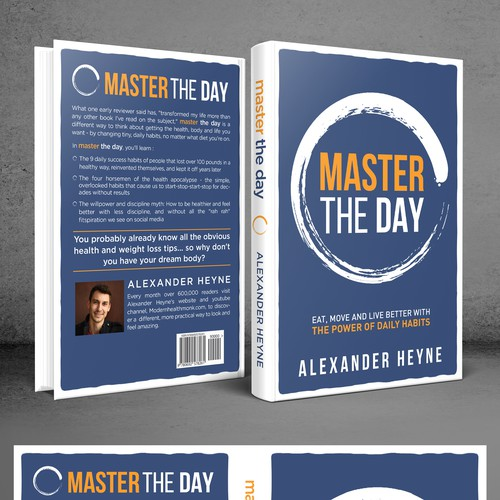 TITLE: Master the Day SUBTITLE: Eat, Move and Live Better With the Power of Daily Habits This book is about how to live a better life - but changing tiny, daily habits in a person's life.