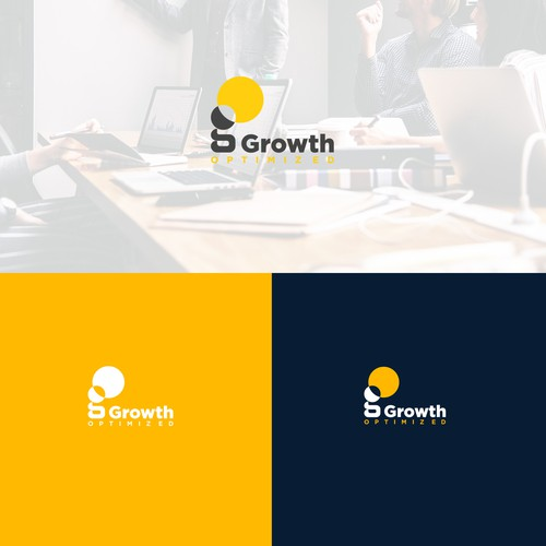 Growth business consultants logo design.