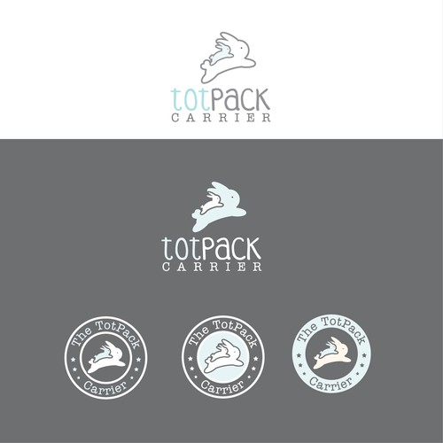 Beautiful logo for the baby/child backpack (TotPack) carrier