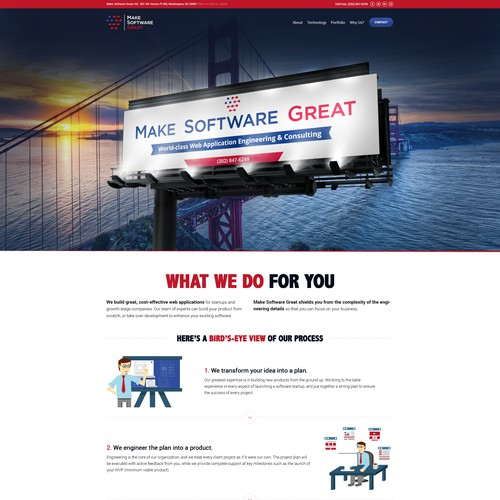 Make Software Great Homepage Layout