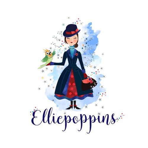 ellipoppins illustration :)