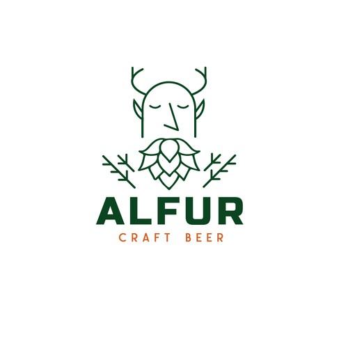 craft beer logo concept