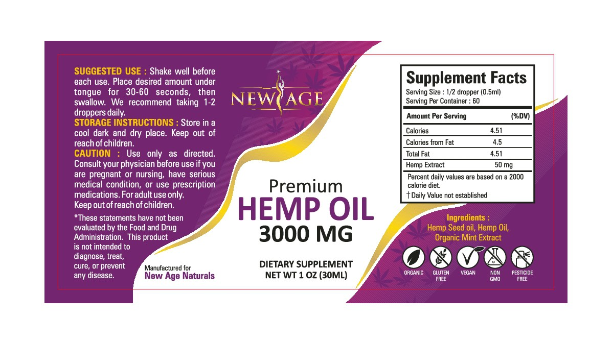 Need New Label and Bottle Rendering For NEW 3000MG Hemp Oil