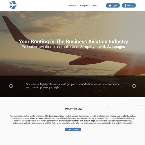 online platform for business aviation market