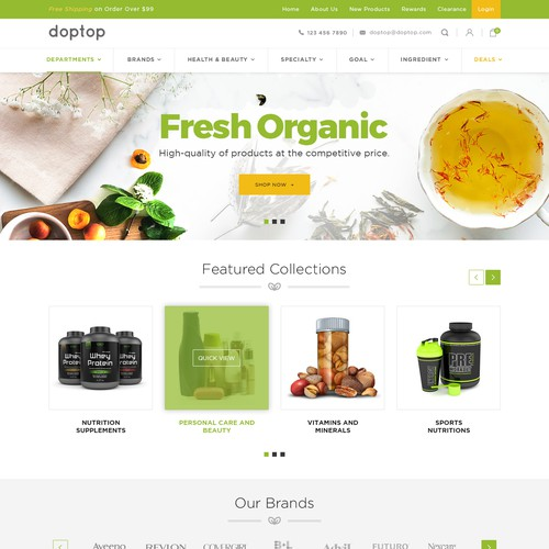 Health and beauty shopify store design