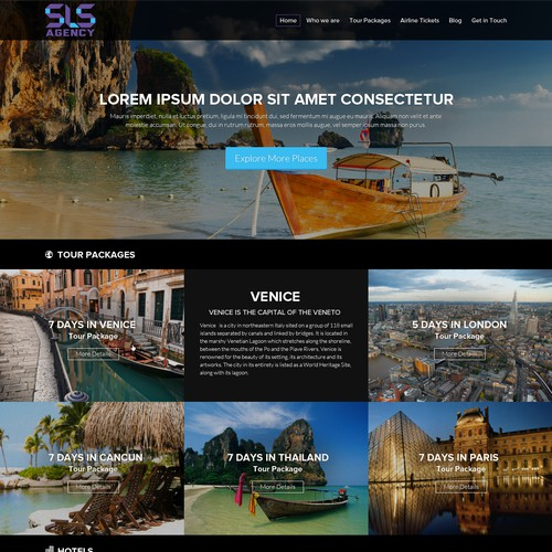 Website design - SLS Agency