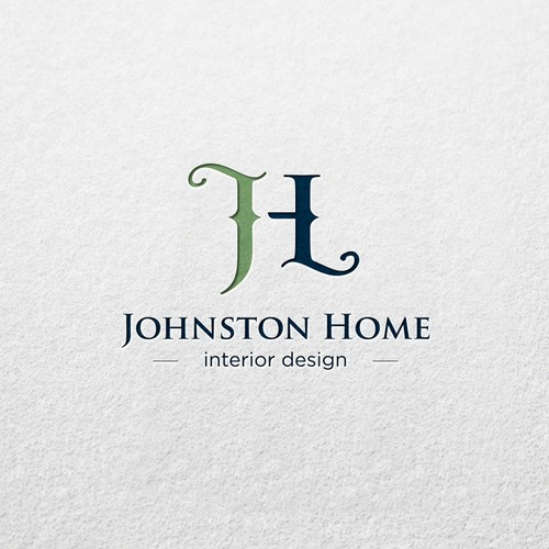The best logo concept and artistic design for Johnston Home interior design.