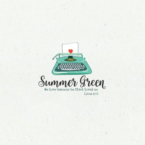 Fun logo concept for a religious writer