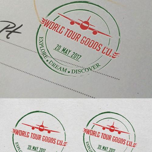 Travel company stamp