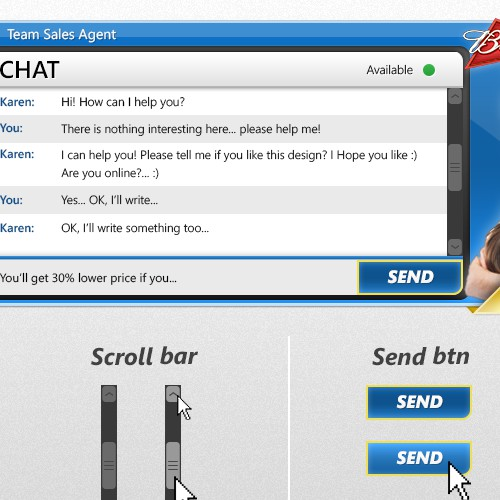 Create a skin for Virtual Sales Agent (Chat)