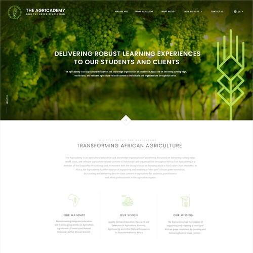 Agriculture Education Homepage Designs