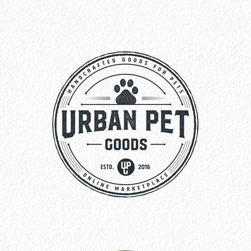 Vintage style pet logo